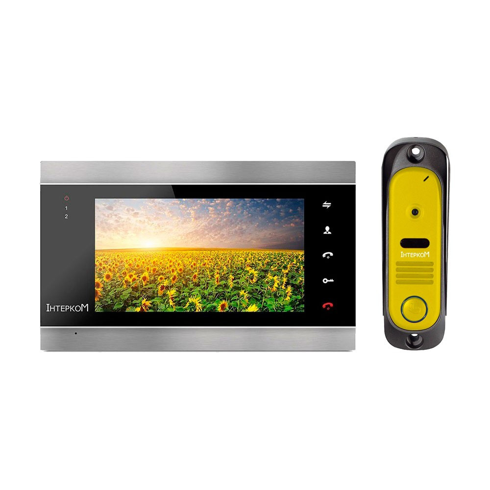 Комплект видеодомофона Intercom IM-12 Black + Yellow