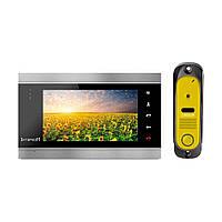 Комплект видеодомофона Intercom IM-12 Black + Yellow, фото 1