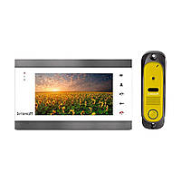 Комплект видеодомофона Intercom IM-12 White + Yellow