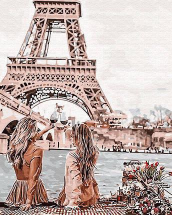 Картина по Номерам 40x50 см. С видом на Эйфелеву башню BrushMe, фото 2