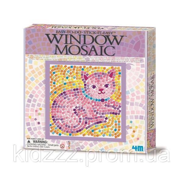 Набір для творчості 4M Мозаїка на вікно (в асортименті Метелик / Дельфін / Кошеня) (00-04526)