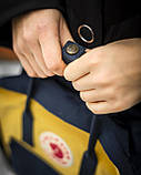 Женский желто-синий рюкзак сумка Fjallraven Kanken Classic канкен 16 л, фото 4