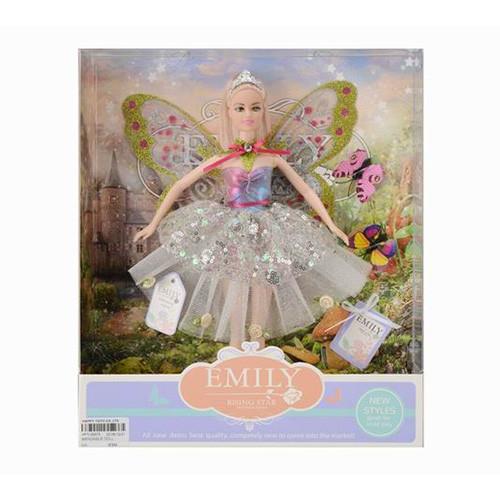Кукла Эмили, цветы, бабочки, QJ080