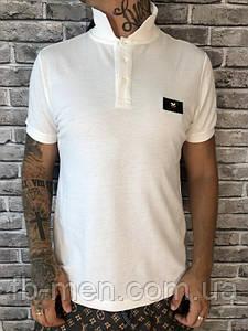 Поло белое Фенди | Мужская футболка с глазами Фенди