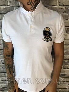 Поло мужское белое Биллионер | Футболка с воротником и логотипом Виллионер