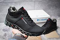 Мужские зимние ботинки на меху в стиле Columbia Track II, кожа, черные *** 40 (26,6 см)