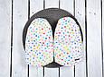 Муфта варежки для коляски, Горошек, фото 6