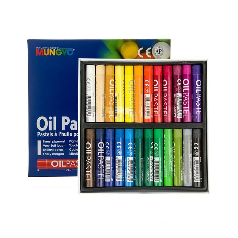 Пастель олійна професійна, 24 кольори, НСП-24, MUNGYO
