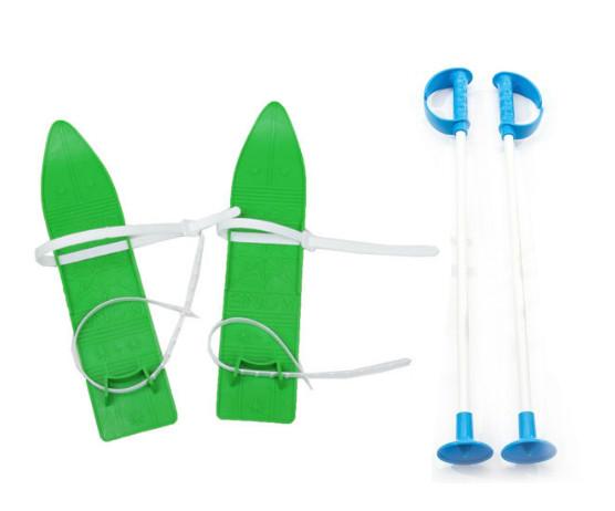 Детские лыжи KIDS SKI, зеленые, 6104ЗЕЛ
