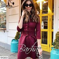 Женское стильное нарядное замшевое платье, фото 1