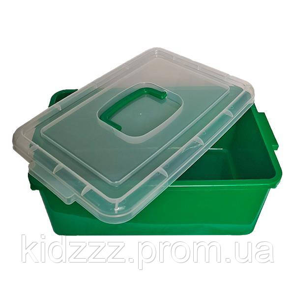Контейнер пластиковий великий Gigo зелений (1140GG)