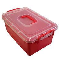 Контейнер пластиковий великий Gigo червоний (1140RR), фото 1