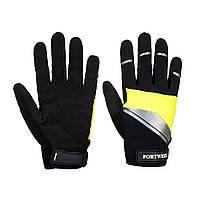 Перчатки Cut 3 Portwest Mechanics A760 Черный/Желтый, L, фото 1