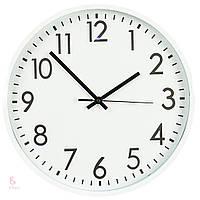 Часы (36 см) пластик, white