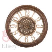 Часы (40 см) пластик, бронза