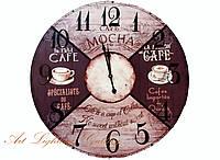 "Часы круг 60см мдф ""Винтаж кофе"" 47099/8"