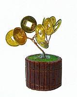 Дерево денежное 6 см с монетками