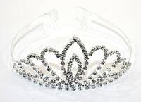 Диадема-корона серебро стразы