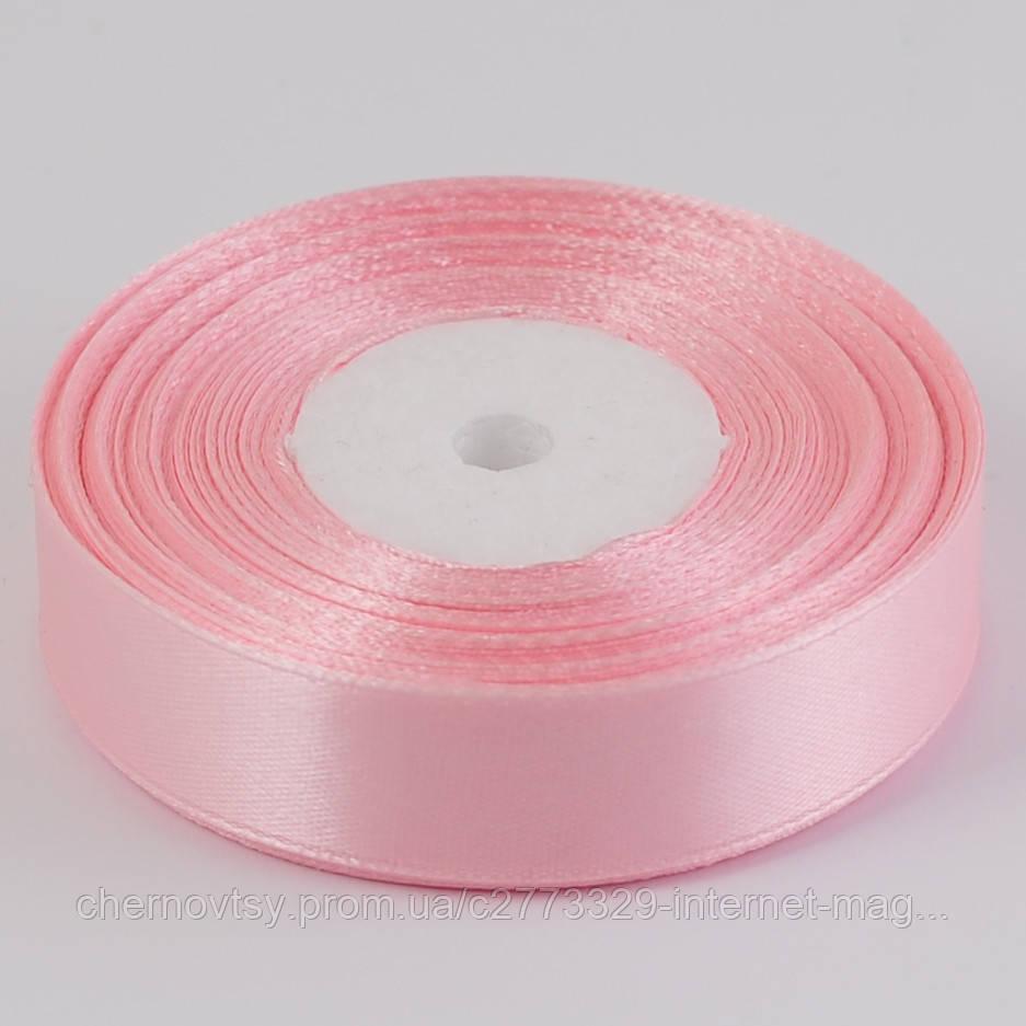 Лента атлас 2 см, 33 м, Светло-розовая ТВ