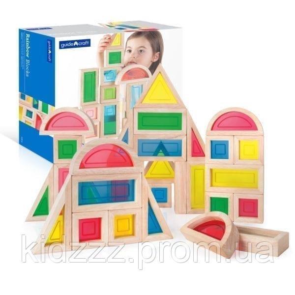 Набір стандартних блоків Guidecraft Block Play Велика веселка, 30 шт. (G3016)
