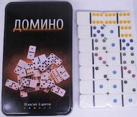 """Игра """"Домино"""" в металической коробке 28 камней 4867"""