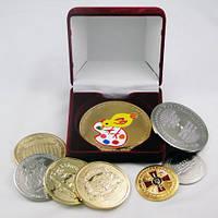 Медаль в коробке, подарочная