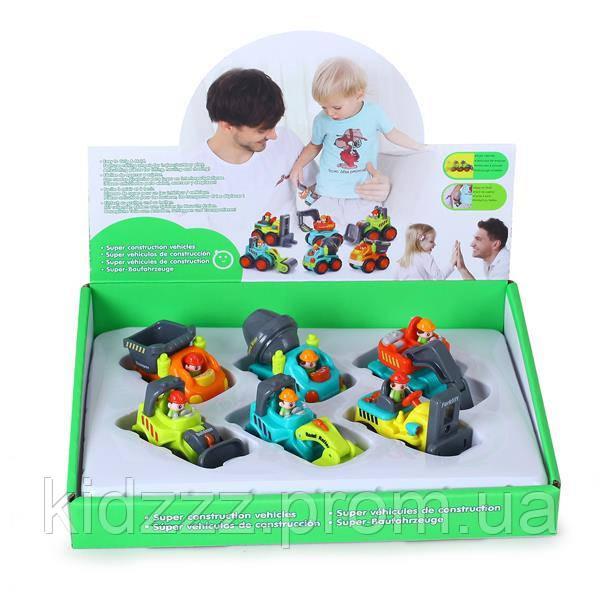 Набір Hola Toys Будівельні машинки 6 шт. (3116C)