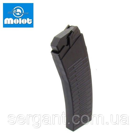 Магазин 12 калибр на 10 патронов коробчатый полимерный МОЛОТ для Сайга/Вепрь