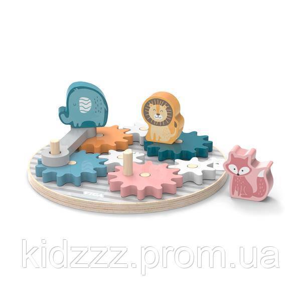 Ігровий набір Viga Toys PolarB Шестерні і тварини (44006)