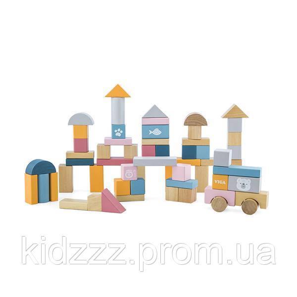 Набір будівельних блоків Viga Toys PolarB 60 шт., 2,5 см (44010)