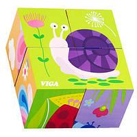 """Пазл-кубики Viga Toys """"Комахи"""" (50160), фото 1"""