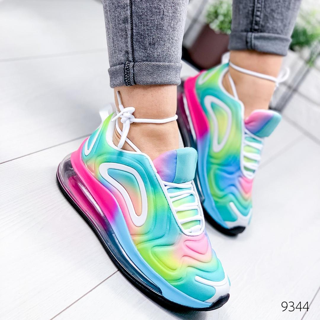 Женские текстильные кроссовки  в стиле найк Nike Air Max 720 разноцветные