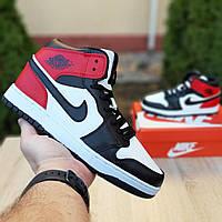 Женские кроссовки в стиле Nike Air Jordan 1 Retro, кожа, разноцветные 36 (23 см)
