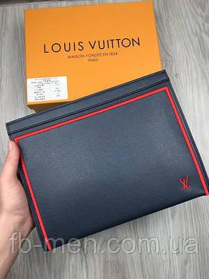 Портмоне Луи Виттон | Папка кожаная Louis Vuitton мужская женская | Бартсетка Луи Виттон мужская на молнии