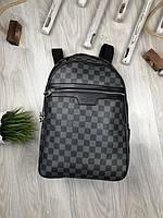 Рюкзак   Louis Vuitton| Серый рюкзак Луи Витnон | Рюкзак серая шашка Луи Виттон | Городской рюкзак | LV