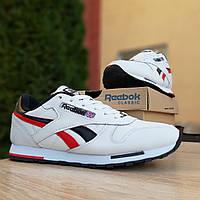 Мужские кроссовки в стиле Reebok Classic, кожа, пена, разноцветные 44 (28 см)