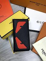 Бумажник Fendi | Кошелек Фенди | Женский черный стильный кошелек Fendi | Портмоне Фенди