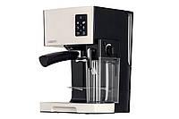 Кофеварка Ardesto ECM-EM14S - 1450Вт/ рожковая/ механика+электроника/резервуар 1,4л/черный+крем