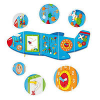 """Ігровий центр бізіборд Viga Toys """"Літак"""" (50673)"""