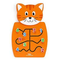 """Настінна іграшка Viga Toys """"Кіт з цифрами"""" (50676)"""
