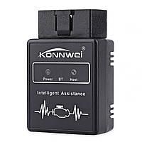 Диагностический адаптер Konnwei KW912 для диагностики неисправностей двигателя OBD II для Android Черный (2793-7536)