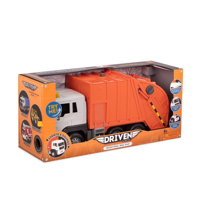 Машинка Driven Standard Мусоровоз оранжевый WH1100Z