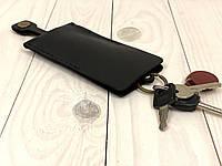 Ключница кожаная для ключей Goose™ Classic черный (чехол для ключей), фото 1
