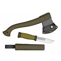 Набор нож Morakniv Outdoor Kit MG Нож Outdoor 2000+Топор Camping axe нержавеющая сталь зеленый цвет