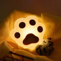 Силиконовый ночник 3DTOYSLAMP Кошачья лапка Коричневая