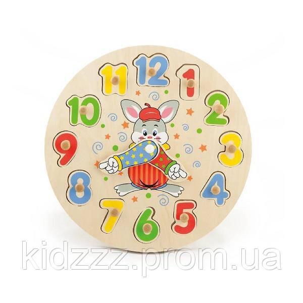 """Розвиваюча іграшка-пазл Viga Toys """"Годинник"""" (56171)"""