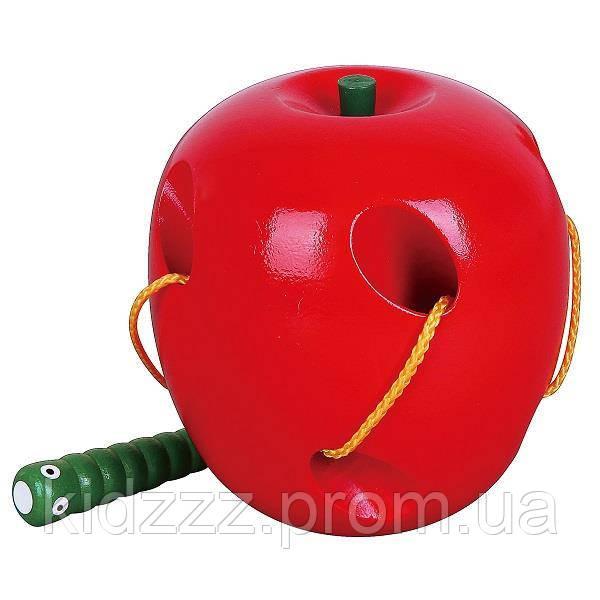 """Шнурівка Viga Toys """"Яблуко"""" (56276)"""