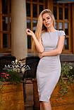"""Женское элегантное платье миди с коротким рукавом, платье-футляр,трикотажное платье """"Sofia"""" I БАТАЛ, фото 7"""
