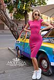 """Женское элегантное платье миди с коротким рукавом, платье-футляр,трикотажное платье """"Sofia"""" I БАТАЛ, фото 8"""