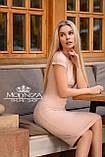 """Женское элегантное платье миди с коротким рукавом, платье-футляр,трикотажное платье """"Sofia"""" I БАТАЛ, фото 10"""